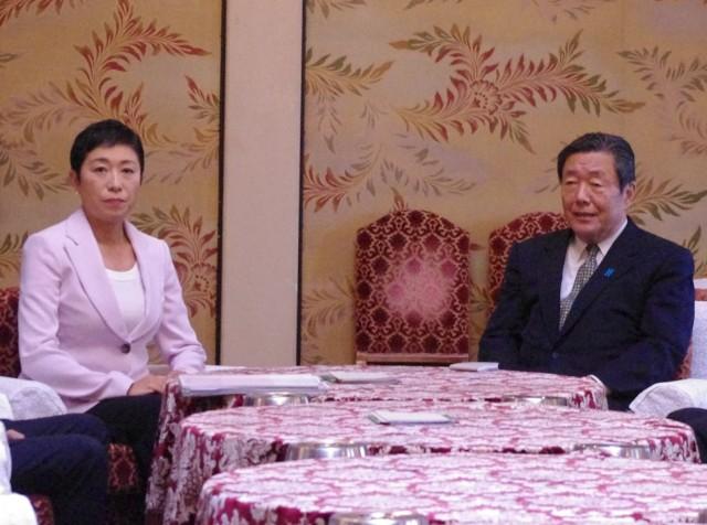 自民党の森山裕国対委員長と会談